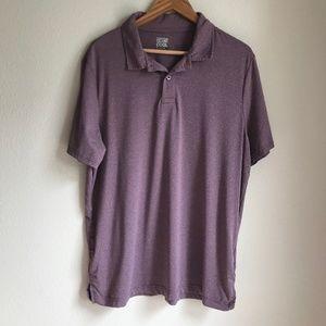 32 Degrees Mens Purple Golf Casual Polo Shirt, XL